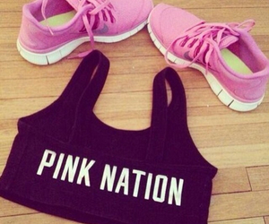 pink, fitness, and nation image