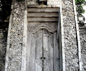 door, gray, and old image