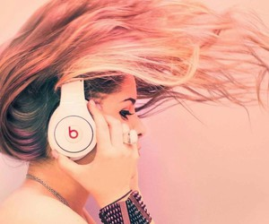 music, beats, and hair image