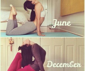 fit, yoga, and motivation image
