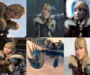 astrid, dragons, and dreamworks image