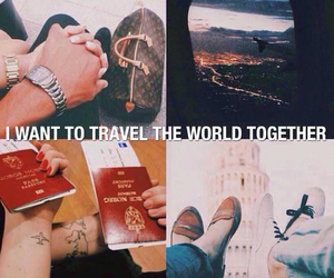 passport, together, and travel image