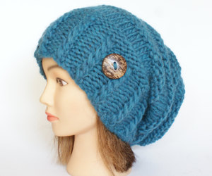 hat, beanie, and blue image