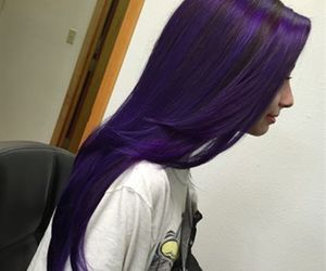 colored hair, girl, and purple hair image