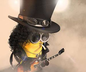 minion, guitar, and rock image