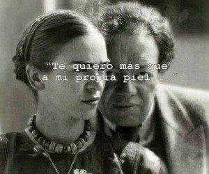 love, frida kahlo, and Diego Rivera image