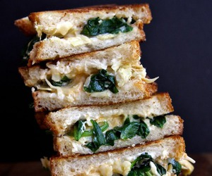 bread, Chicken, and food image