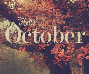 october, month, and ottobre image