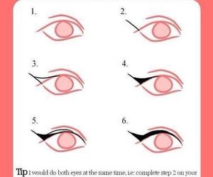 eyeliner, diy, and makeup image