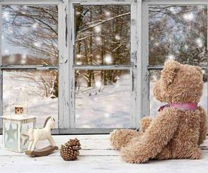 winter, bear, and candle image