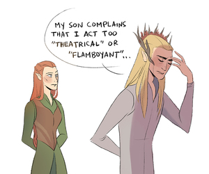 thranduil, the hobbit, and tauriel image