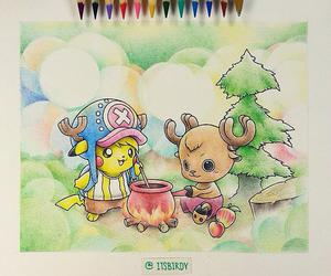 pokemon, drawing, and one piece image