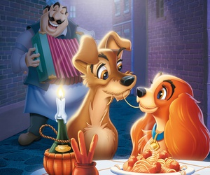 dog, lady, and the tramp image