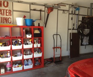 home depot, garage storage systems, and garage cabinets image
