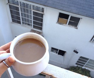 coffee, morning, and pale image
