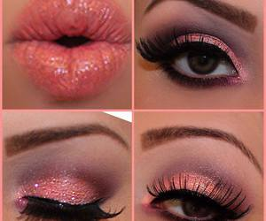 beautiful, makeup, and pink image