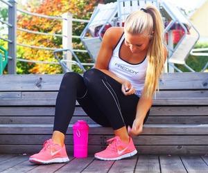 girl, nike, and fitness image