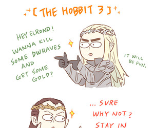 LOTR, the hobbit, and galadriel image
