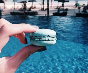 beach, blue, and delicious image
