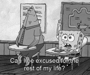 spongebob, school, and funny image