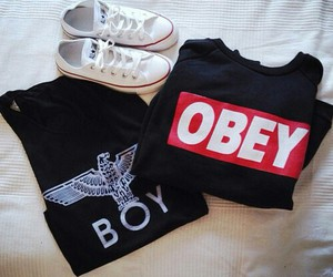 obey, boy, and converse image