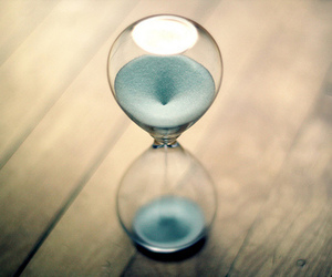 time, hourglass, and blue image