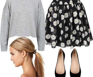 blonde, fashion, and floral image