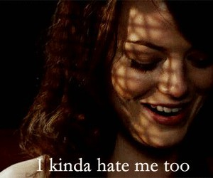 emma stone, hate, and easy a image