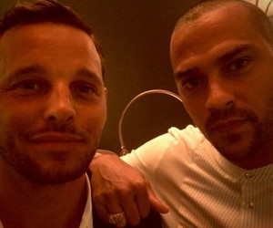 grey's anatomy, justin chambers, and jesse williams image