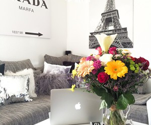 flowers, paris, and Prada image