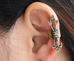 arrow, earrings, and piercing image