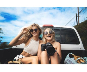 best friends, girl, and summer image