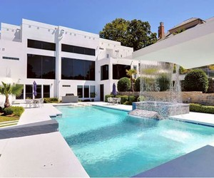 lux, pool, and white house image