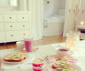 food, breakfast, and pink image