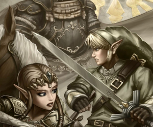 link, zelda, and ganondorf image