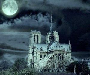church, dark, and paris image