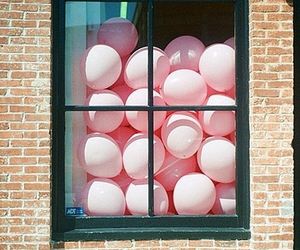 balloons, window, and pedroguizilini image