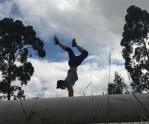ballet, sky, and boy image