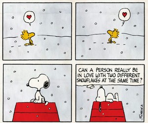 snoopy, snow, and love image