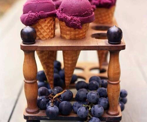 ice cream, food, and grapes image