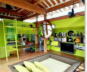 couch, tv, and green image