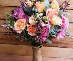bouquet, flowers, and colored flowers image