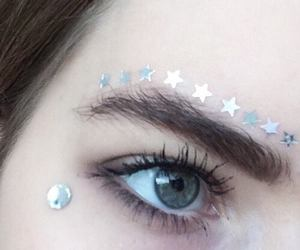 stars, grunge, and eyes image