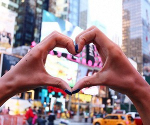 love, city, and heart image