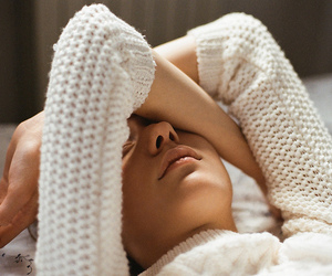 sleep, tired, and sweater image