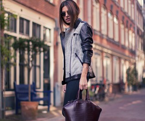 bag, leather, and outfit image