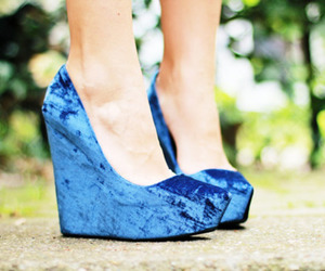 blue, blue shoes, and legs image