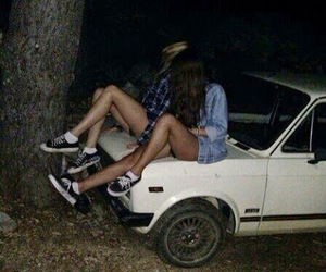 best friends, car, and friendship image