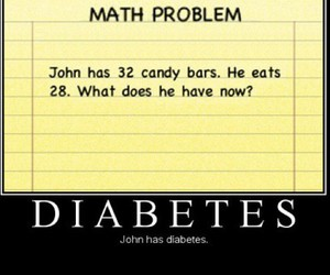candy, funny, and diabetes image