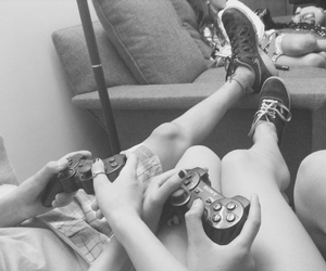 couple, videogames, and love image